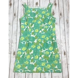 Lilly Pulitzer Green and Yellow Shift Dress Size 8
